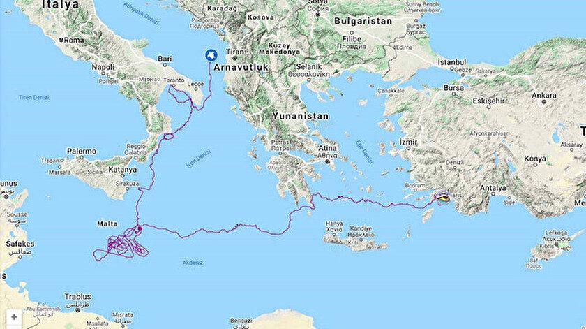 Caretta carettayı uydudan izlediler: 5 bin 500 kilometre yol aldı