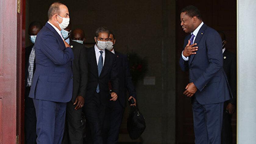 Dışişleri Bakanı Mevlüt Çavuşoğlu ve Togo Devlet Başkanı Faure Gnassingbe