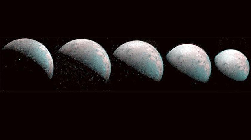 Juno, uydunun kuzey kutbunu görüntüledi.