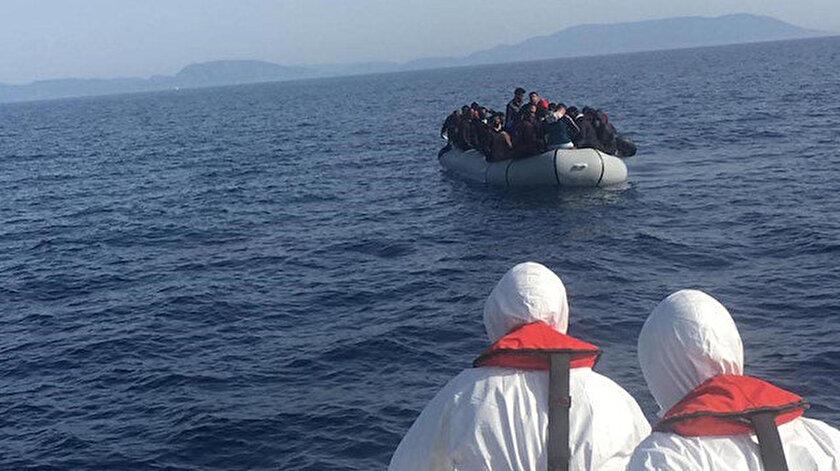 Türk tarafına itilen 43 sığınmacı kurtarıldı