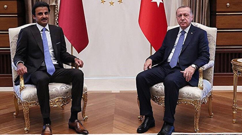 Katar Emiri Şeyh Al Sani - Cumhurbaşkanı Erdoğan