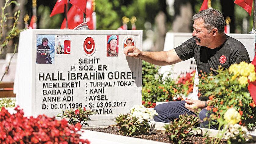 Şehit İbrahim Gürel'in kabri