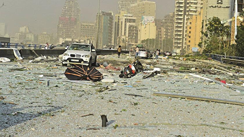 Patlama sonrasından bir görüntü