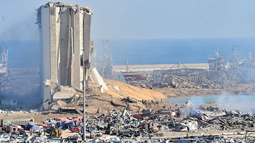 Beyrut Limanı'ndaki patlama meydana geldi.