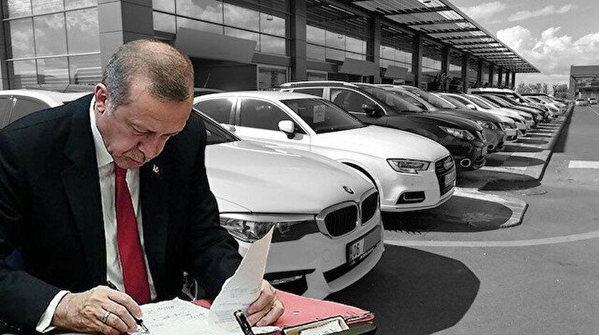 2. el araç satışına yönelik yönetmelik değişikliği için Cumhurbaşkanı Erdoğan'ın imzası bekleniyor.