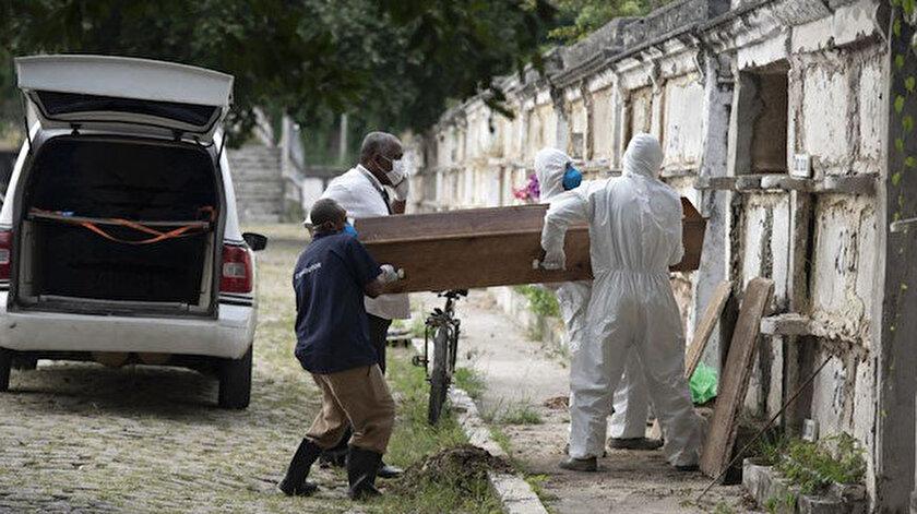 Kovid-19 nedeniyle son 24 saatte Brezilyada 1154, Hindistan ve Meksikada 857şer kişi hayatını kaybetti