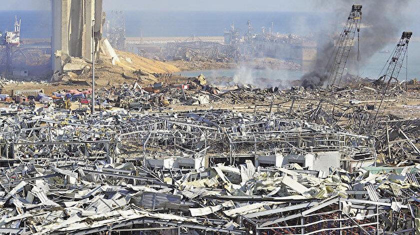 Patlamadan sonra meydana gelen yıkıntı