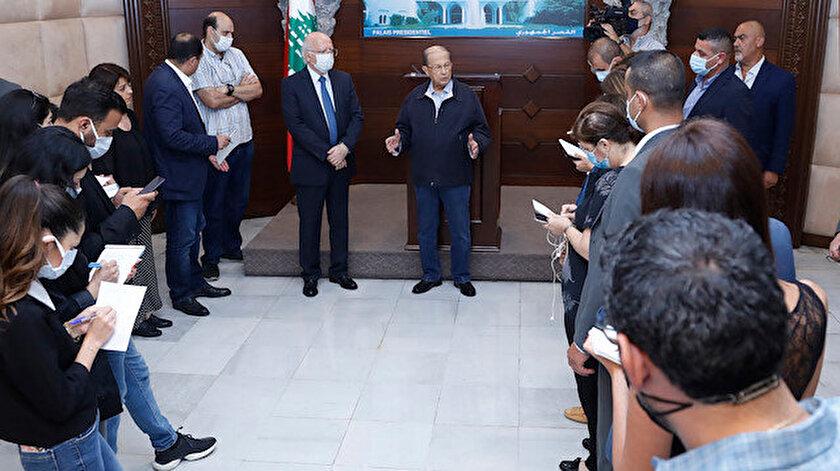 Lübnan Cumhurbaşkanı Mişel Avn.
