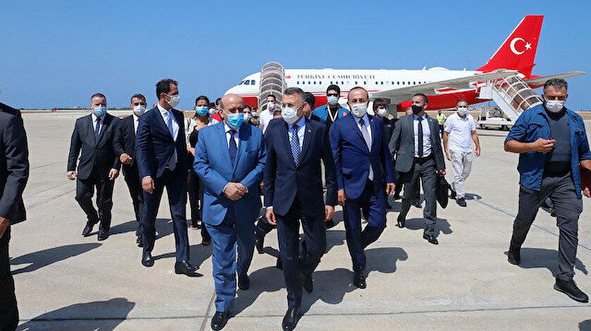Cumhurbaşkanı Yardımcısı Fuat Oktay ile Dışişleri Bakanı Mevlüt Çavuşoğlu Lübnan'da