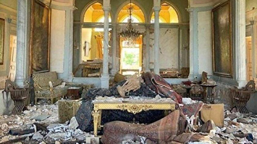 Lübnan Beyrut Limanı'nda gerçekleşen patlamada Sursock Sarayı da hasar gördü.