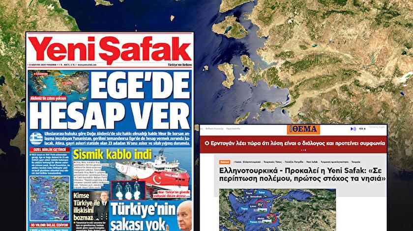 Yunanistan'da gündem Yeni Şafak'ın adalar ile ilgili hazırladığı dosya.