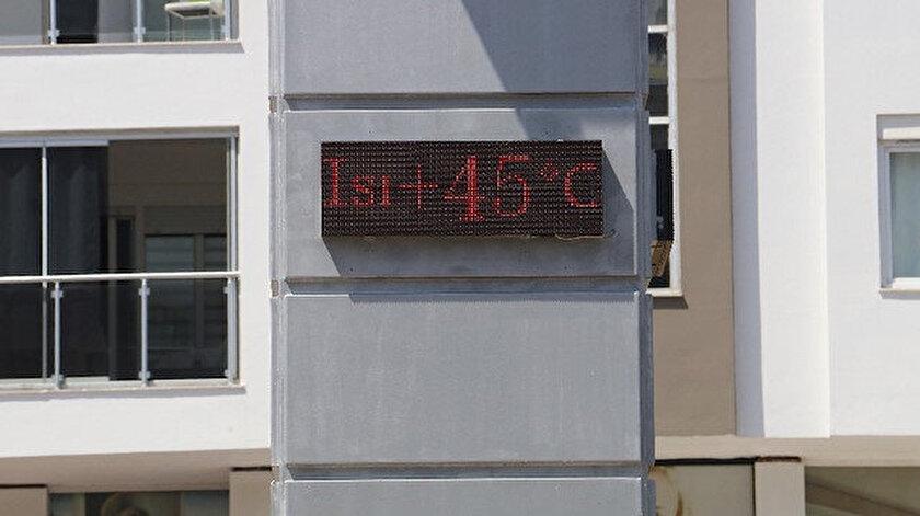 Antalyada termometreler 45 dereceyi gördü! Antalya hava durumu