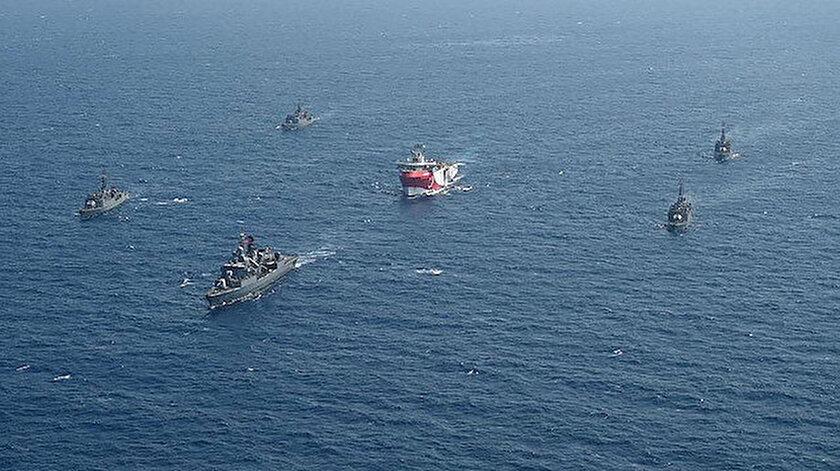 Oruç Reis gemisinin sondaj faaliyetleri devam ediyor.