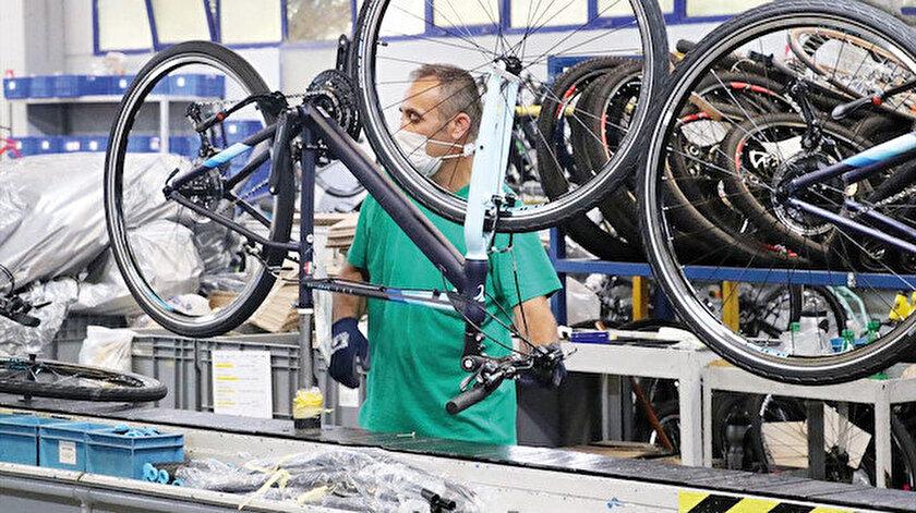 En çok Avrupalılar bisiklete rağbet gösterdi.