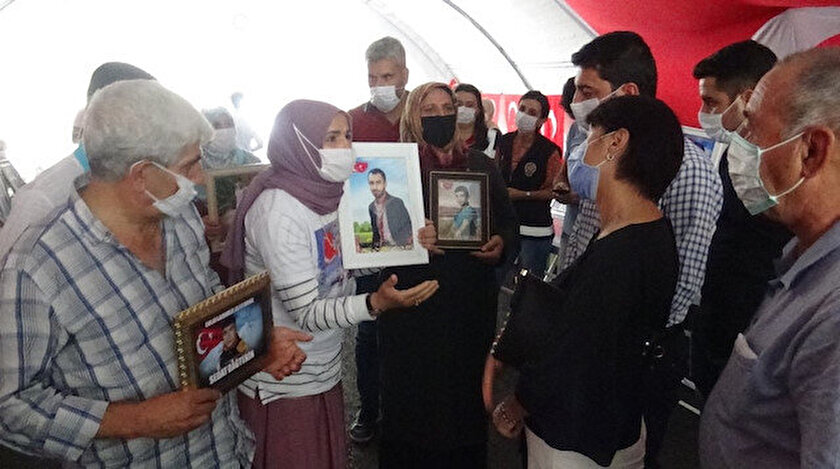 HDP'yi ziyaret eden CHP'lilere evlat nöbeti tutan ailelerden tepki.