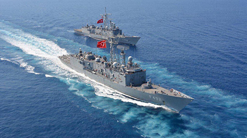 Türk Deniz Kuvvetleri'ne ait fırkateynler.