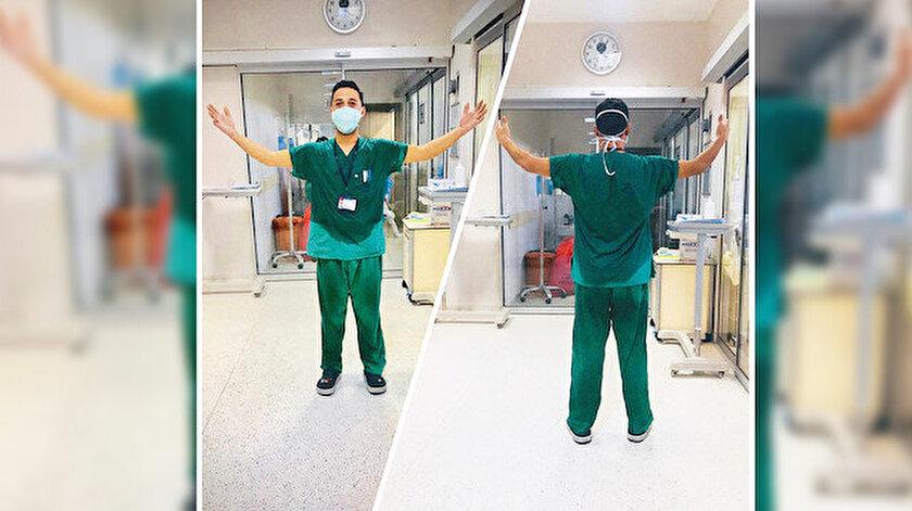 Koronavirüs mücadelesinin yükünü sırtlayan sağlık çalışanları, verdikleri mücadele ile takdir topluyor.
