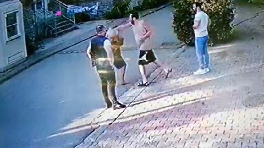 Halil Sezai'nin yaşlı adamı dövdüğü görüntüler an be an kameralara yansıdı.