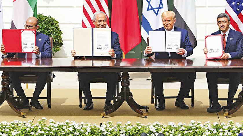 İsrail, BAE ve Bahreyn, Beyaz Saray'da imzayı attı.