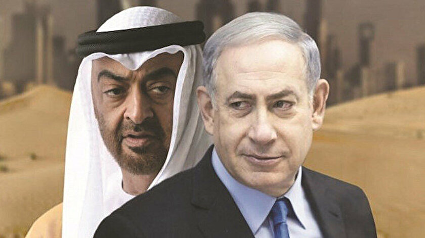 Muhammed bin Zayid ve Binyamin Netanyahu