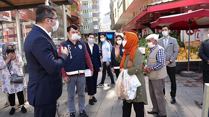 İçişleri Bakanlığının 81 ilde başlattığı koronavirüs tedbirlerine yönelik denetim, Erzurum'da Vali Okay Memiş tarafından yapıldı.