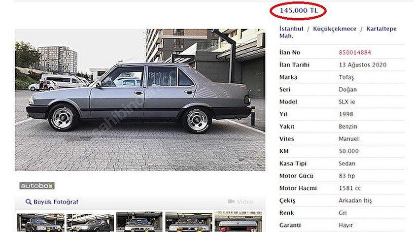 İkinci el otomobil fiyatlarını görenler şoke oluyor.