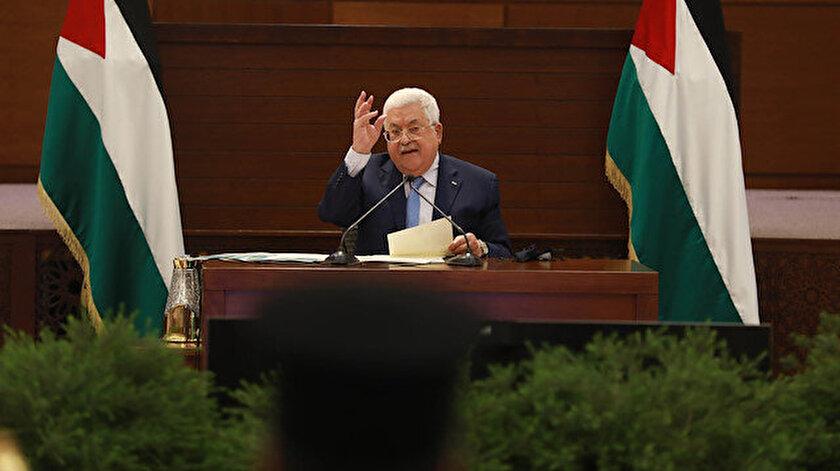 Filistin Devlet Başkanı Mahmud Abbas.