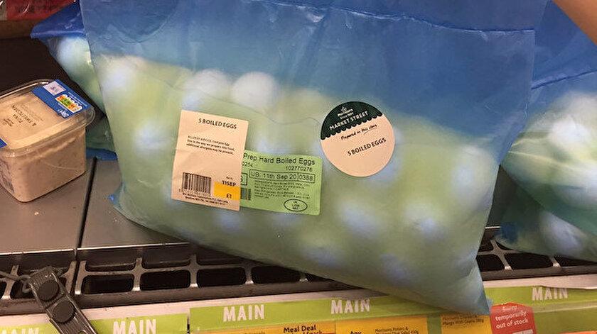ABD'de bir markette satılan yumurtalar Twitter'da çok konuşuldu.