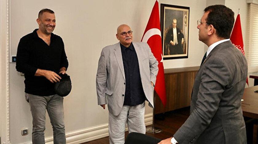 Şevket Çoruh (solda), Rasim Öztekin (ortada), İstanbul Büyükşehir Belediye Başkanı Ekrem İmamoğlu (sağda).