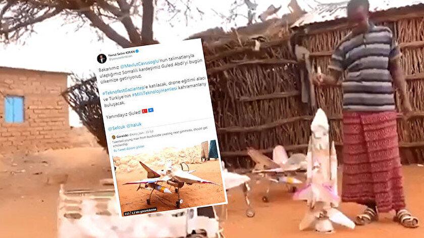 Somalili Guled Abdi, sosyal medyada yaptığı uçak modelleriyle viral olmuştu.