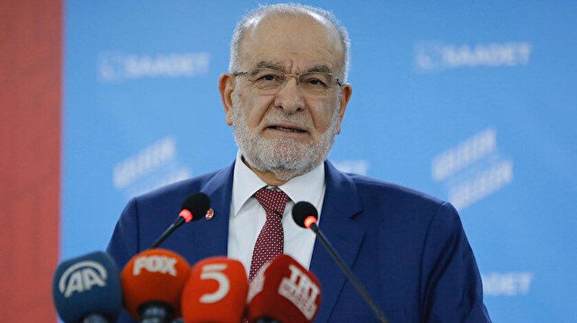 Saadet Partisi Genel Başkanı Temel Karamollaoğlu.