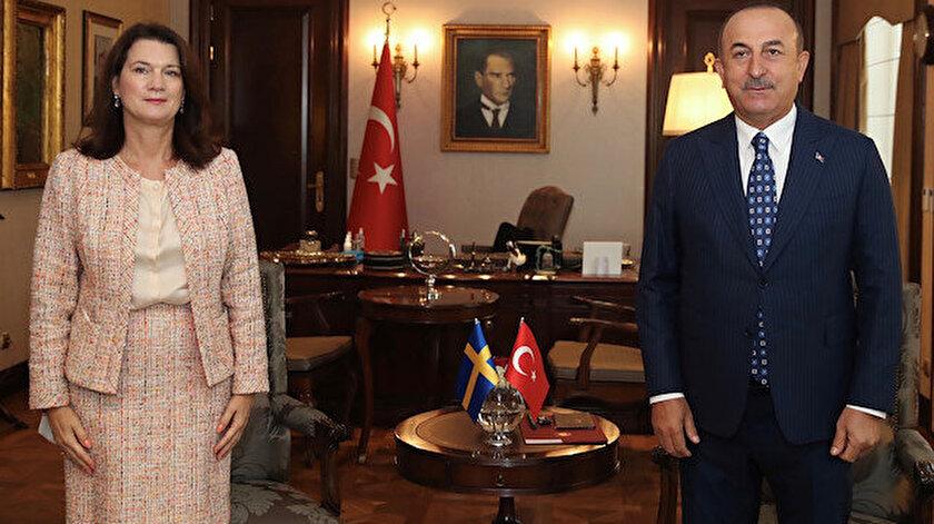 Dışişleri Bakanı Mevlüt Çavuşoğlu ve İsveçli mevkidaşı Ann Linde.