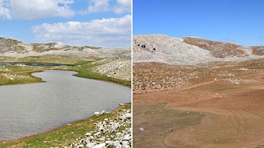 Kuruyunca İkiz Göller'in eski halinden eser kalmadı.