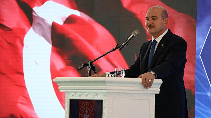 İçişleri Bakanı Soylu, Suriye Görev Gücü Değerlendirme Çalıştayı'nda konuştu.