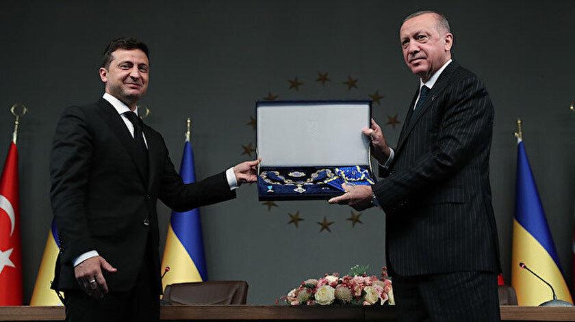 Cumhurbaşkanı Erdoğan ve Ukrayna Devlet Başkanı Zelenskiy