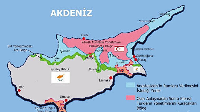 BM kulislerinde dolaşan taksim haritalarına göre, Türk nüfusu Girne-Lefkoşa-İskele üçgenine hapsedilmek isteniyor.