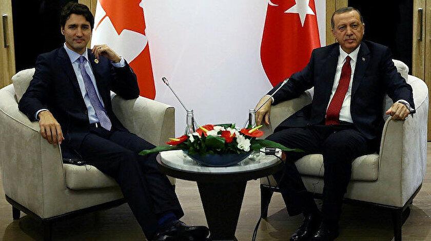 Kanada Başbakanı Trudeau - Cumhurbaşkanı Erdoğan