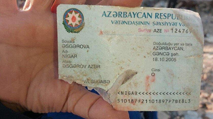 Ermenistan'ın saldırısında hayatını kaybeden Nigar, henüz 15 yaşındaydı.
