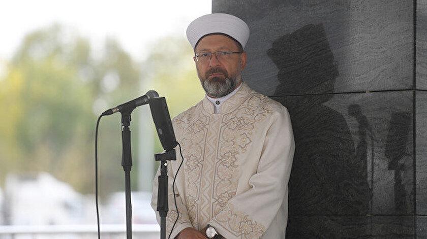 Diyanet İşleri Başkanı Ali Erbaş açıklama yaptı.