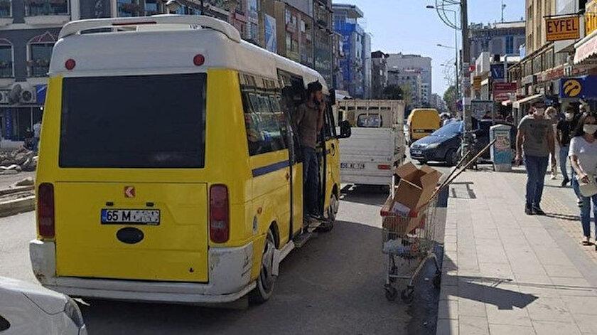 Van'daki minibüslerde ayaktaki yolculara da ceza kesilecek.