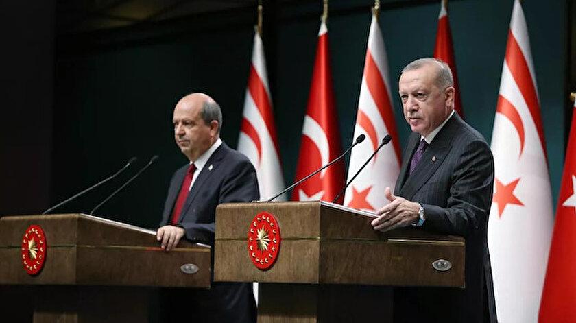 KKTC Cumhurbaşkanı Ersin Tatar - Cumhurbaşkanı Erdoğan