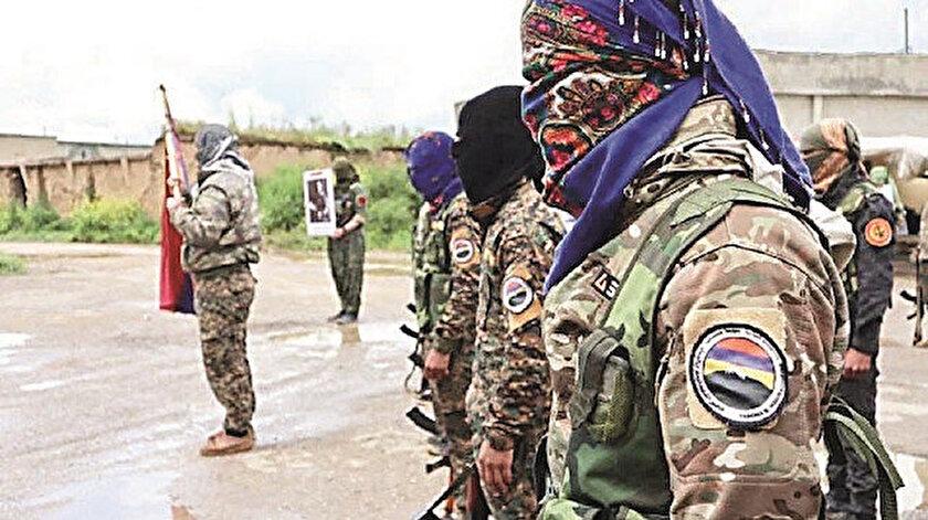 PKK'lı teröristler ve örgütün Suriye'deki yapılanması içindeki Ermeni Nubar Ozaryan Taburu'na bağlı militanların Karabağ'da 7 ayrı kamp kurduğu tespit edildi.