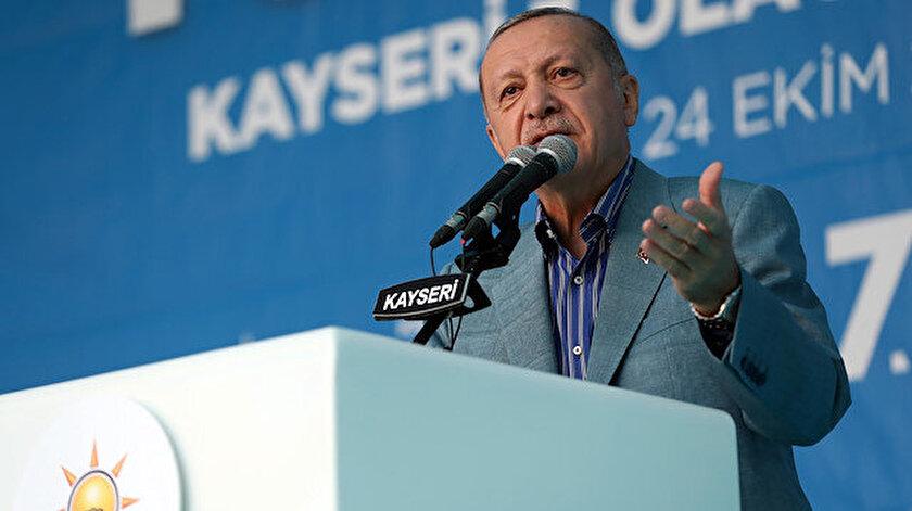 Cumhurbaşkanı Erdoğan Kayseri'de konuştu.