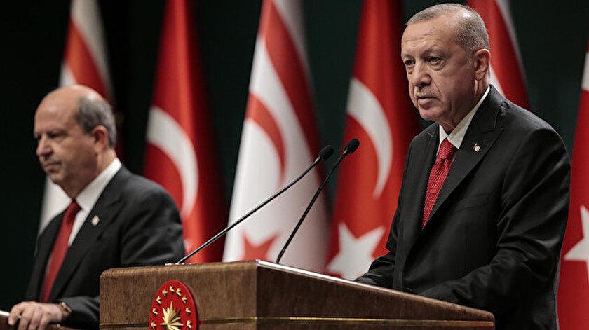 Cumhurbaşkanı Erdoğan ve KKTC Cumhurbaşkanı Tatar
