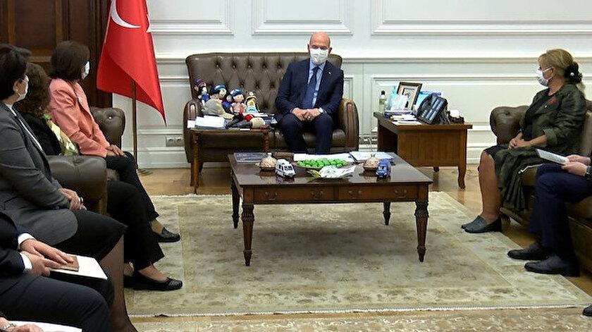 İçişleri Bakanı Soylu'nun kabulü.