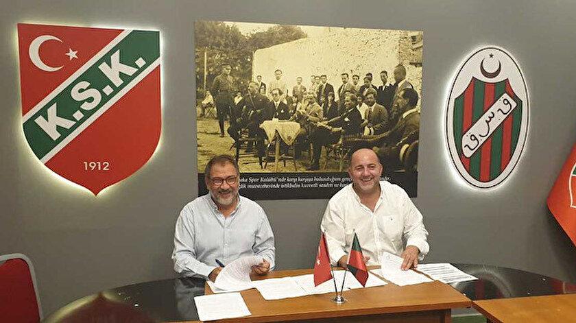 Karşıyaka Spor Kulübü Başkanı Turgay Büyükkarcı  / Bitci Teknoloji Yönetim Kurulu Başkanı Çağdaş Çağlar