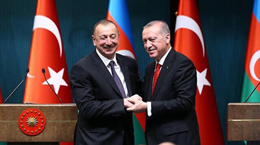 Cumhurbaşkanı Recep Tayyip Erdoğan ve Azerbaycan Cumhurbaşkanı İlham Aliyev