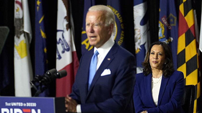 Joe Biden ile Kamala Harris bir arada.