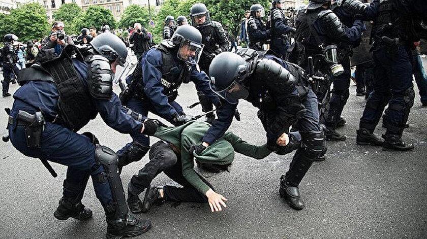 Fransa'da polis şiddeti tepki çekiyor.