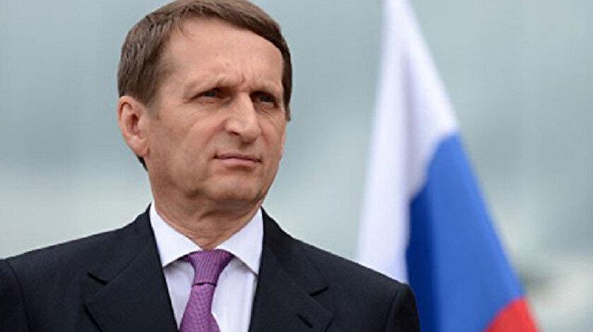 Rusya Dış İstihbarat Servisi (SVR) Başkanı Sergey Narışkin.